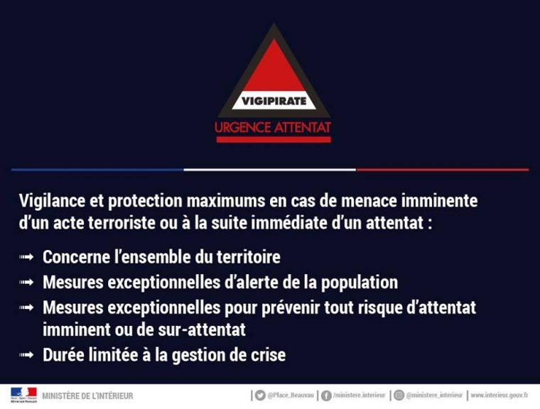 Plan Vigipirate : niveau le plus élevé.. vigilance de tous les citoyens.