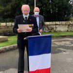 11 novembre 2020 à Trévou, Cérémonie en petit comité au Monument aux Morts,