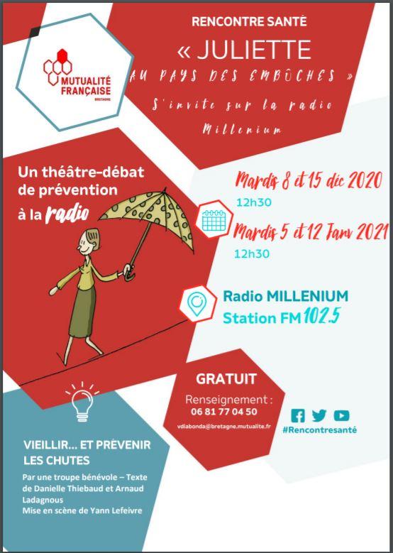 Prévenir les chutes… extraits de pièces de théâtre à  la radio Millénium :  rencontre santé…