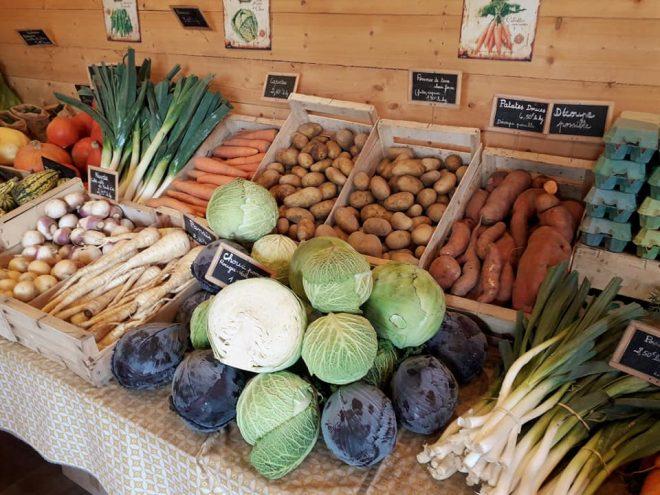 La Ferme Dolmen & Potager, vente directe de fruits et légumes Bio, propose aussi actuellement de la viande de veau bio de race Salers. (colis de 5kg) Magasin ouvert le mardi et le vendredi de 16h à 19h