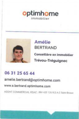 Amélie Bertrand conseillère en immobilier vous propose ses services à Trévou-Tréguignec