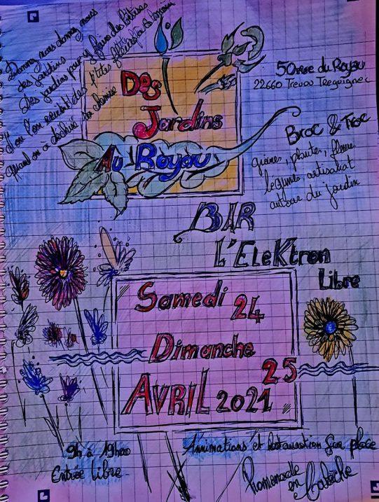 Un marché aux plantes aux beaux jours à l'Élektron au Royau en Trévou-T et un concours d'affiche