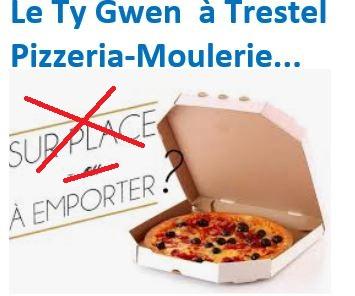 L'équipe de la pizzeria Ty Gwen vous propose : pizzas, burgers et  aussi boissons chaudes à emporter pour les balades en bord de mer… Tous les détails, la carte, les nouveautés,  ci-dessous
