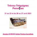 Stage d'aquarelle sur notre côte avec Annaïg Le Bihan  du 21 au 23/04 et/ou du 26 au 27/04…