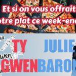 Une association gagnante entre Le Ty-Gwen-pizzeria  et Julie Baron IAD :  1 plat = 1 ticket ! ce sera ce week-end…