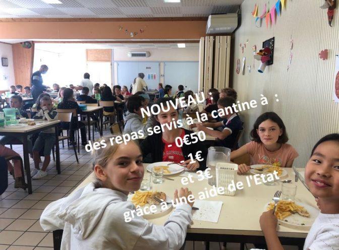Les élus ont voté une tarification sociale pour les repas pris à la cantine. Une aide de l'État compensera … Les familles profiteront en grand nombre des repas à 1€ et même à 0€50.