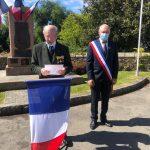 La cérémonie du 8 mai s'est déroulée au Monument aux Morts en tout petit comité pour la 2ème année..
