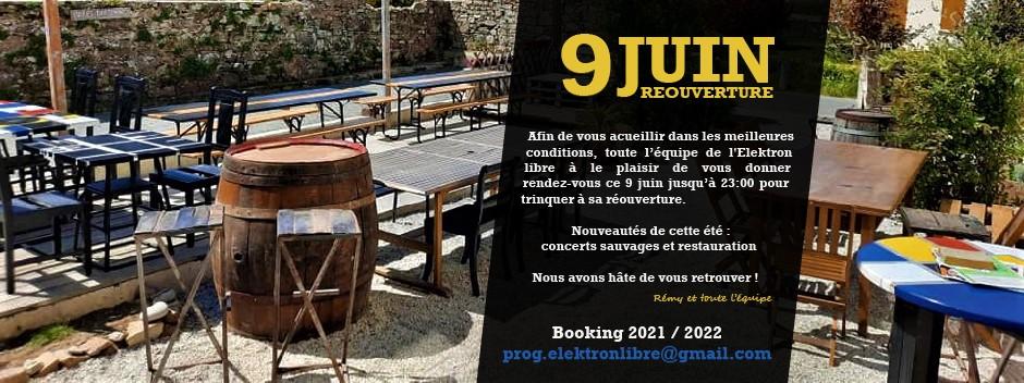 L'Élektron au Royau en Trévou-Tréguignec : Présentation de l'équipe qui vous accueille à partir du  9 juin dès 17h ..