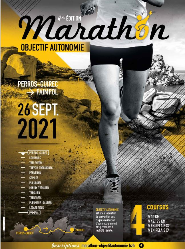 """Le Marathon """"Objectif Autonomie"""" passera à nouveau par Trévou-Tréguignec Ce sera le 26 septembre 2021"""
