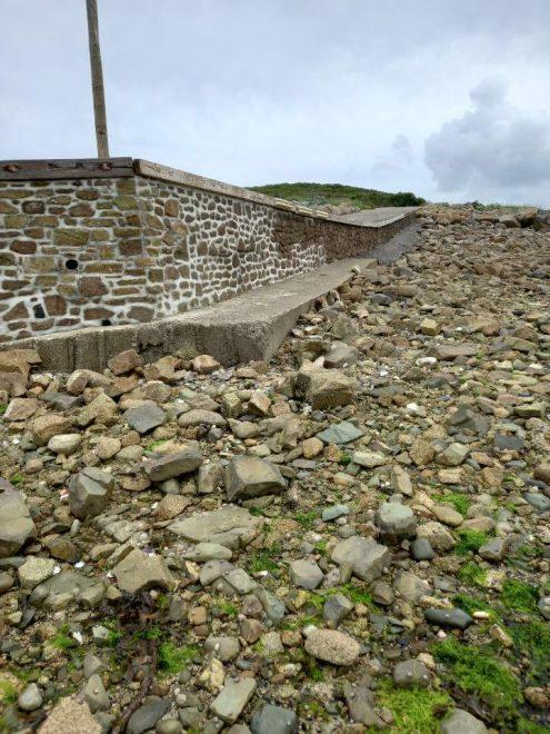 """La cale du port de  """"Port-Le-Goff"""" en Trévou-Tréguignec a été consolidée"""