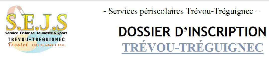 Les dossiers d'inscription aux services périscolaires de Trévou-Tréguignec (garderie, restauration, mercredi) sont à compléter dès à présent.